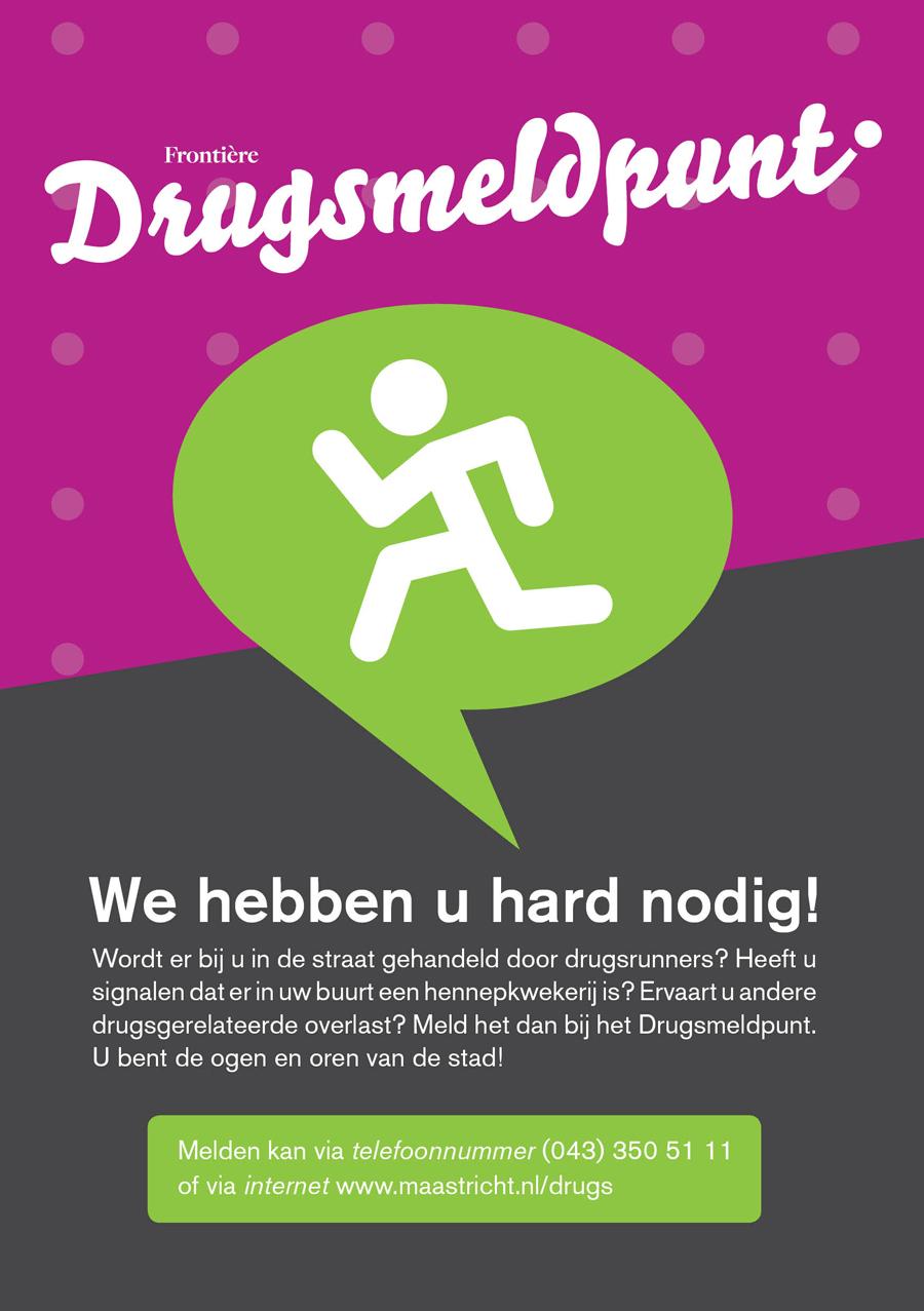 Drugsmeldpunt Maastricht flyer